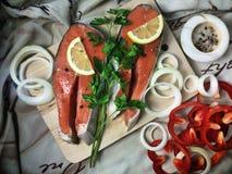 Bifes de peixes vermelhos Fotografia de Stock Royalty Free