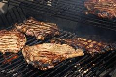Bifes do reforço do BBQ Imagem de Stock