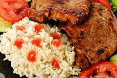 Bifes fritados da carne Imagem de Stock
