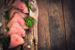 Bifes grelhados da carne foto de stock