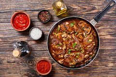 Bifes saborosos quentes de Salisbúria imagem de stock
