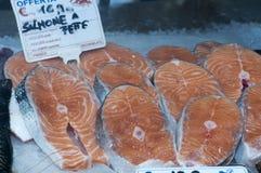 Bifes Salmon Imagem de Stock