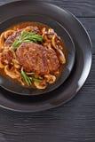 Bifes suculentos saborosos quentes de Salisbúria foto de stock royalty free