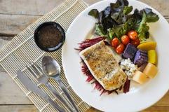 Biff för fisk för havsbas Royaltyfri Bild