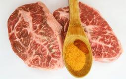 Biff för nötköttlägenhetjärn Arkivbild