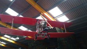 Bifläche mit hölzernem Propeller Lizenzfreie Stockbilder