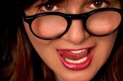 bifocals妇女 免版税库存照片