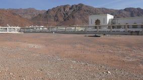 Bifogat område av islamiska martyrkroppar som begravas på striden av Uhud under era för profetMuhammad pbuh arkivfilmer