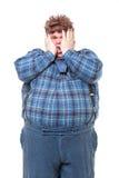 Bifolco obeso di peso eccessivo del paese Fotografie Stock