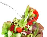 Biforchi con insalata di verdure ed insalata in una ciotola Immagine Stock Libera da Diritti