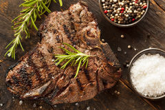 Bifteck à l'os grillé de BBQ Photographie stock