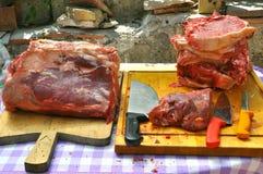Bifteck à l'os italien Images libres de droits