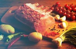 Bifteck avec des légumes photographie stock