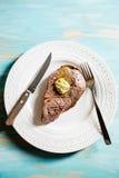 Bifteck avec Herb Butter Photos stock