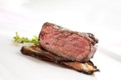 Bifteck coupé en tranches Photographie stock libre de droits