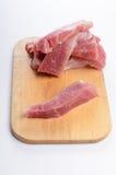 Bifteck cru frais de viande de boeuf Photographie stock libre de droits
