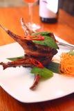 Bifteck d'agneau de gril Photographie stock libre de droits