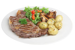 bifteck d'aloyau de dîner Image stock