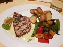 Bifteck d'espadons grillé Photographie stock
