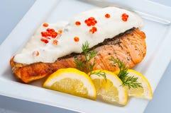 Bifteck d'un saumon image stock