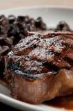 Bifteck de bande avec os Photographie stock libre de droits