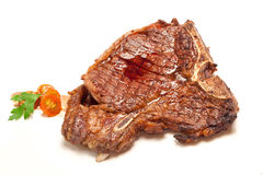 Bifteck de boeuf d'à l'os Images libres de droits
