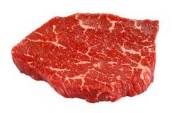 Bifteck de boeuf marbré d'isolement sur le blanc Image stock