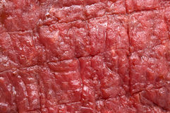 Bifteck de boeuf rouge cru Images libres de droits