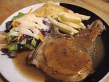 Bifteck de côtelette de porc photo libre de droits