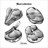 Bifteck de collection de gravure de viande illustration libre de droits