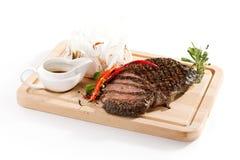 Bifteck de flanc grillé Photographie stock libre de droits