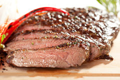Bifteck de flanc grillé Image libre de droits
