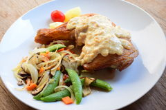 Bifteck de hanche de poulet Photo stock
