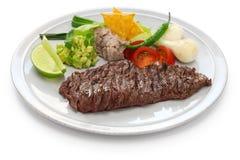 Bifteck de jupe grillé, cuisine mexicaine photos stock