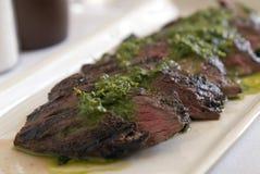 Bifteck de jupe grillé Photos libres de droits
