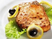 Bifteck de poissons Photographie stock libre de droits