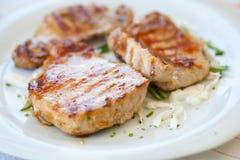 Bifteck de porc Photographie stock libre de droits