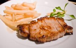 Bifteck de porc Photo libre de droits