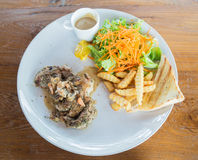 Bifteck de porc Images stock
