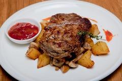 Bifteck de porc Image libre de droits