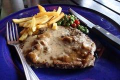 Bifteck de porc avec le poivre noir Image libre de droits