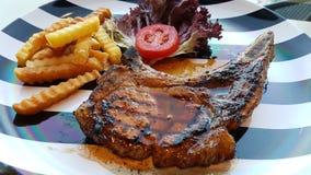 Bifteck de Porkchop Kurobuta Images libres de droits