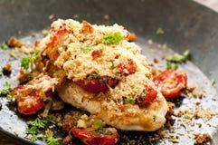 Bifteck de poulet avec le Salsa photo libre de droits