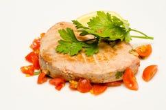 Bifteck de thon Photographie stock libre de droits
