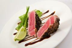 Bifteck de thon grillé Photographie stock libre de droits