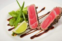 Bifteck de thon grillé Photo libre de droits