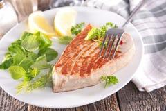 Bifteck de thon grillé Photos stock