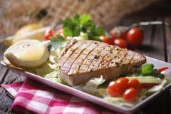 Bifteck de thon grillé Image stock