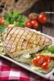 Bifteck de thon grillé Images libres de droits