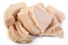 Bifteck de thon sur le fond blanc Images stock